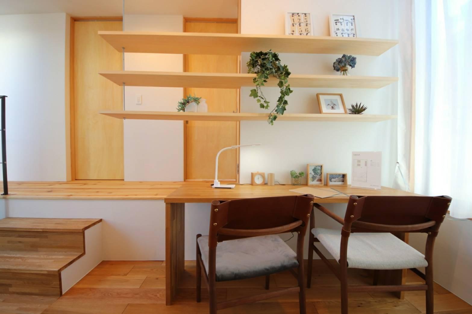 書斎事例:造作家具(八尾の家(コンセプトハウス))