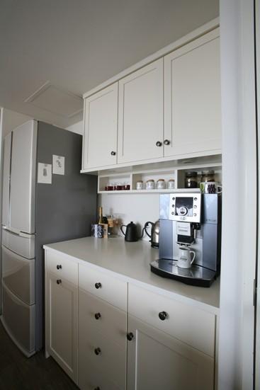 キッチン事例:作業性と収納力のあるオリジナルキャビネット(K邸)