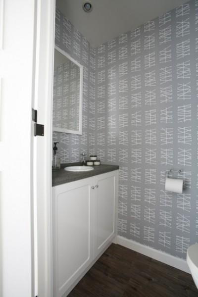 壁紙がシンプル可愛いトイレ (K邸)