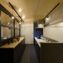 モルタル階段の家の写真 キッチン