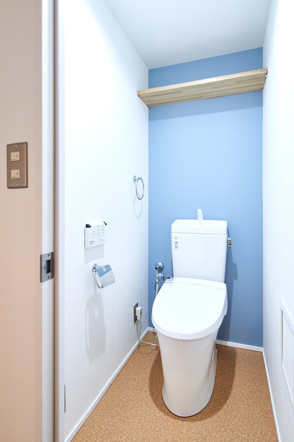 バス/トイレ事例:トイレ(素材を活かす贅沢な空間)
