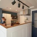 ミニマム空間を広々最大限に生かしたマンションリノベーションの写真 キッチン
