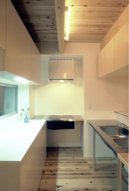 東松山のL型ボックス/Moさんの家 (製作物ステンレスL型キッチン)