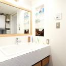 インダストリアル素材に囲まれ暮らすの写真 洗面