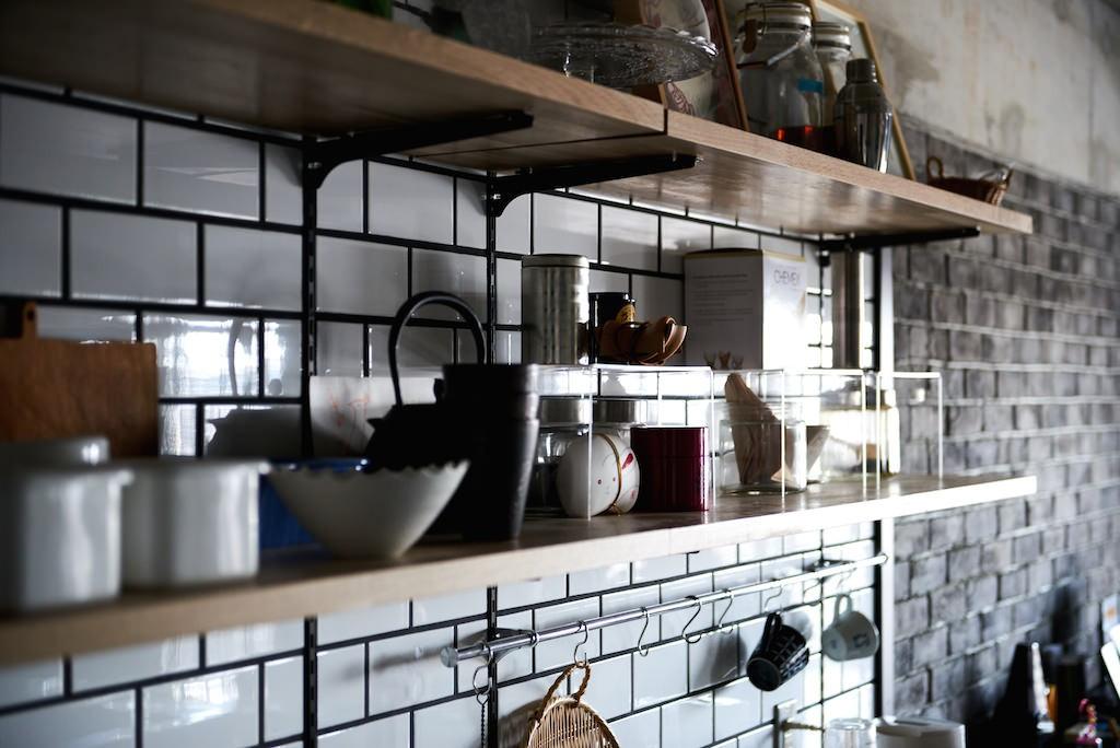 キッチン事例:内装(こだわり溢れるインダストリアルな空間)
