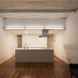 徳島の住宅 (2階リビング,ダイニング,キッチン)