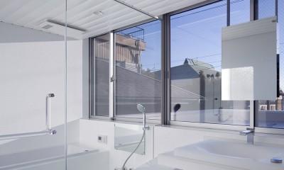 徳島の住宅 (3階洗面脱衣室、浴室)