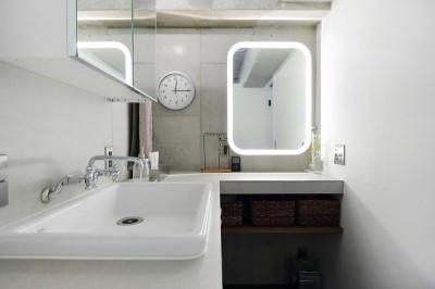 洗面スペース (泊まれる本屋)
