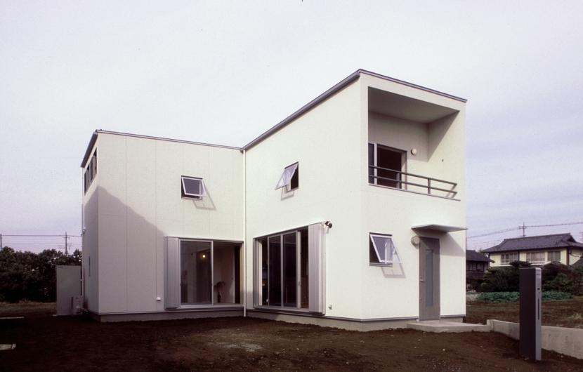 東松山のL型ボックス/Moさんの家の写真 南東面外観