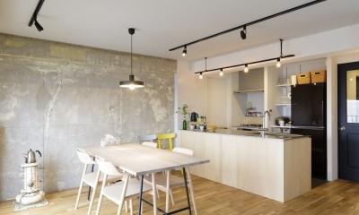 K邸-組み合わせを楽しむ。間取りの知恵と暮らしの工夫 (ダイニングキッチン)