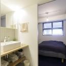 K邸-組み合わせを楽しむ。間取りの知恵と暮らしの工夫の写真 ベッドルーム
