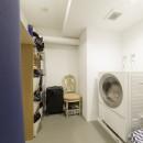 K邸-組み合わせを楽しむ。間取りの知恵と暮らしの工夫の写真 家事室