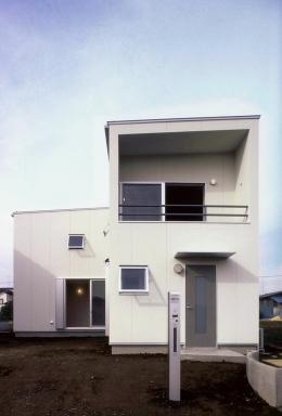 東松山のL型ボックス/Moさんの家 (東側(道路側)外観)