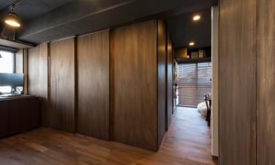 ワンルームのリビングに建具で個室をつくります。|カグ ノ モリ