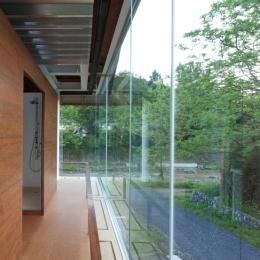 都幾川縁りのハイブリッド・ハウス/Onさんの家 (回廊とコア部分)