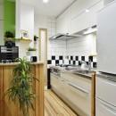 12坪のタイムスリップの写真 シャープにまとまったキッチン