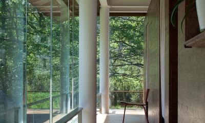 都幾川縁りのハイブリッド・ハウス/Onさんの家 (回廊-コア部分)