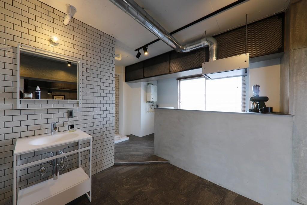 キッチン事例:キッチン(池下 minimum Secret base)
