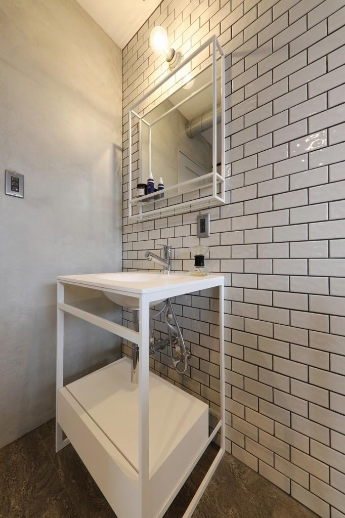 バス/トイレ事例:洗面(池下 minimum Secret base)