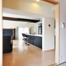 センターキッチンの住まいの写真 バリアフリー LDK⇔和室