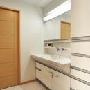 センターキッチンの住まいの写真 洗面室