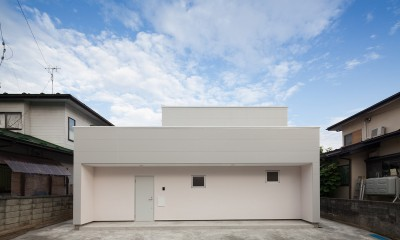 桜の住宅 (外観(道路側))