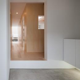 桜の住宅 (玄関)