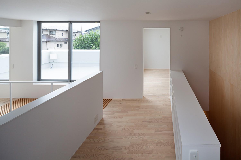 書斎事例:2階スタディールーム(桜の住宅)
