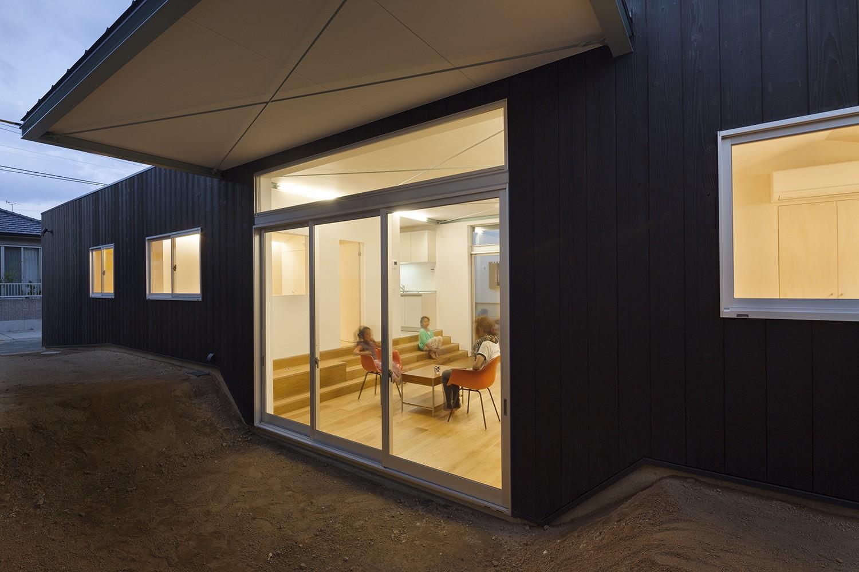 アウトドア事例:外部スペース(高松の平屋)