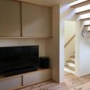 北大和の家の写真 リビング階段・造作家具