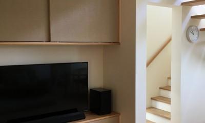 リビング階段・造作家具|北大和の家