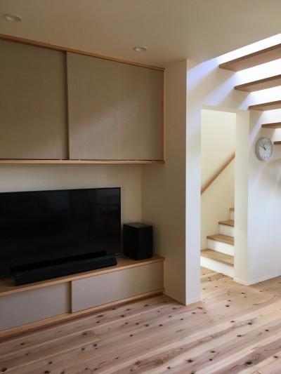 北大和の家 (リビング階段・造作家具)