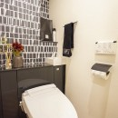 Black Simple Modernの写真 トイレ