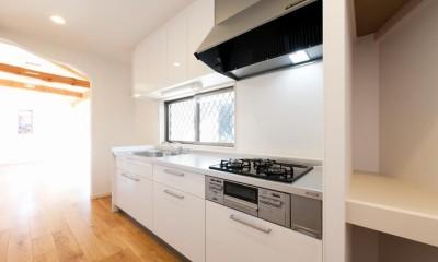 二階建てを一階建てに減築し、間取りも完全リフォーム (キッチン)