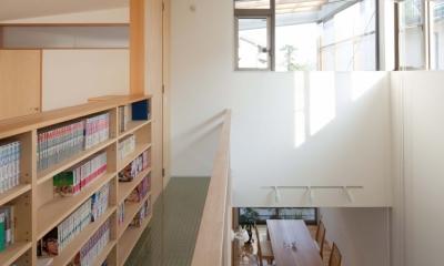善福寺の2世帯住宅/Yoさんの家 (内部バルコニー)
