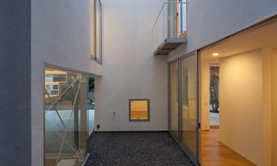 平間の2世帯住宅 (中庭)