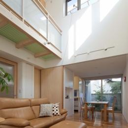 善福寺の2世帯住宅/Yoさんの家 (ハイサイドライトのあるリビング)