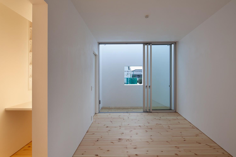 ベッドルーム事例:寝室(三鷹の住宅)