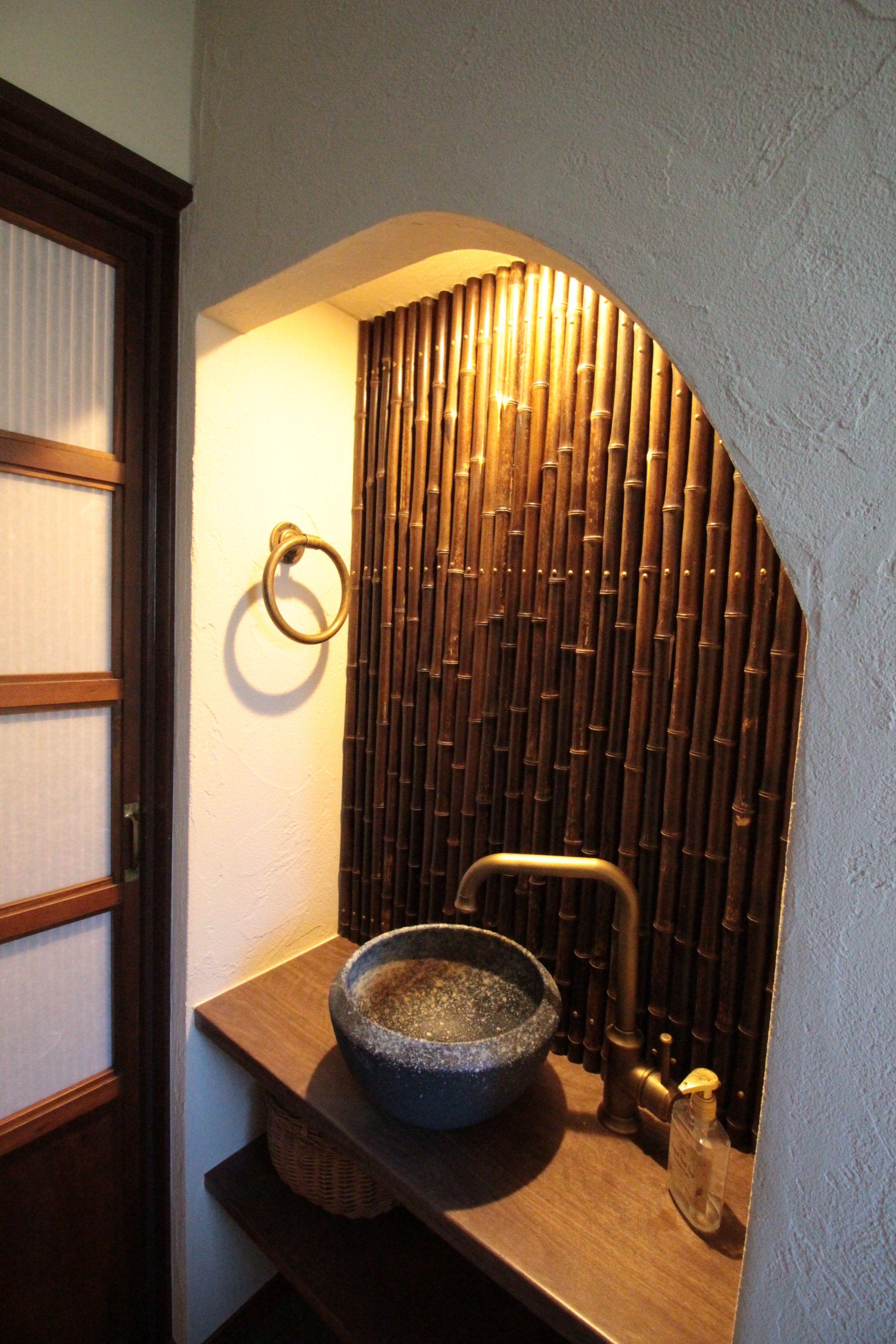 バス/トイレ事例:トイレ(湘南に佇む古民家)