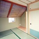 天然木羽目板とモザイクタイル貼りの、狭小住宅 東京の写真 狭小住宅 東京