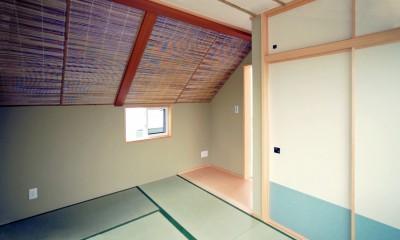 天然木羽目板とモザイクタイル貼りの、狭小住宅 東京 (狭小住宅 東京)