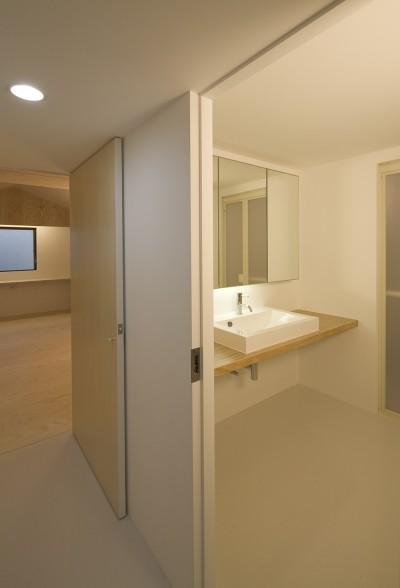 洗面・浴室 (徳丸の住宅)