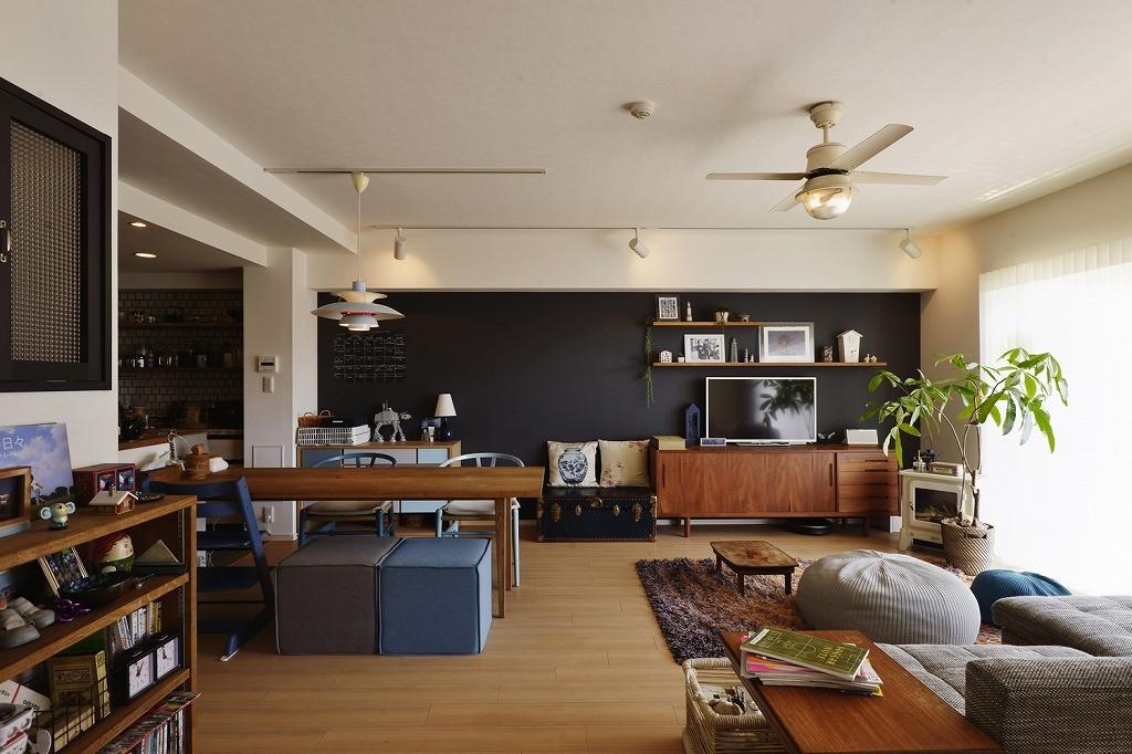 リビングダイニング事例:LDK(既存空間+ビンテージ家具、うまくとけ合うちょこっとリノベ)