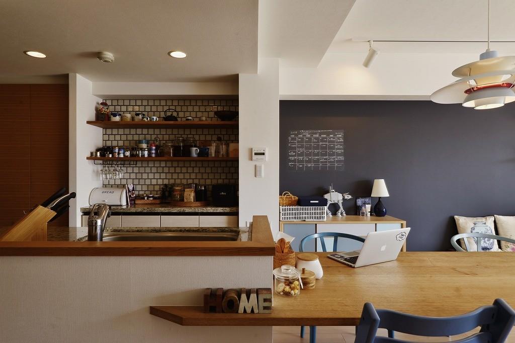 キッチン事例:キッチン(既存空間+ビンテージ家具、うまくとけ合うちょこっとリノベ)