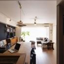 既存空間+ビンテージ家具、うまくとけ合うちょこっとリノベの写真 LDK