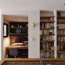 既存空間+ビンテージ家具、うまくとけ合うちょこっとリノベの写真 ワークスペース