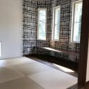 スキップフロアのある和モダンな家の写真 和室