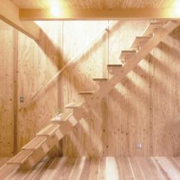 小石川植物園と向き合う家/Niさんの家 (ロフトへの階段)