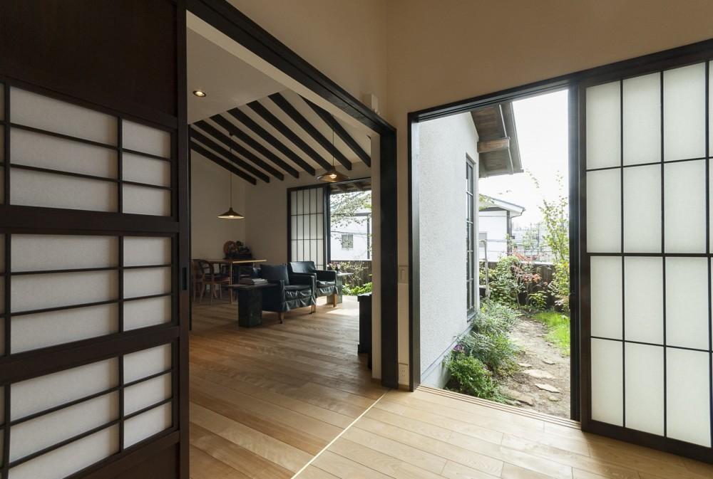 アレルギー反応を持つ子供が住むための和モダン住宅/美しい空気の家 (小間)