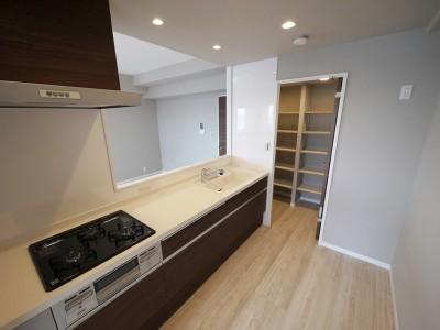 キッチン (シックなカラーの上質空間)